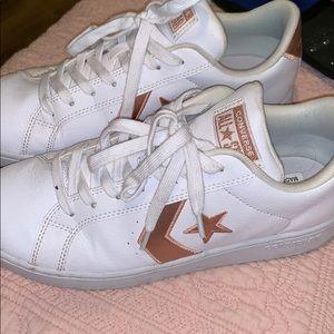White gold converse